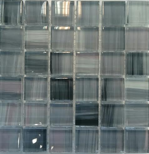 KWP BLACK -GREY üvegmozaik