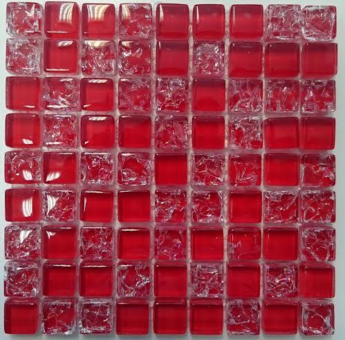 CRACK RED üvegmozaik