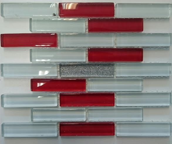 RED - SILVER üvegmozaik