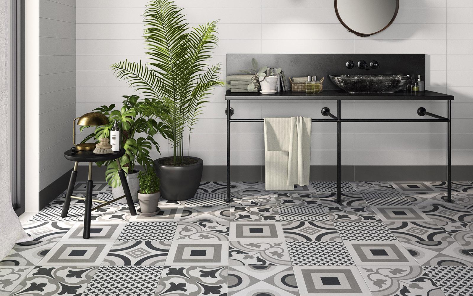 DOM  Comfort C Grey  geo -rug -paint